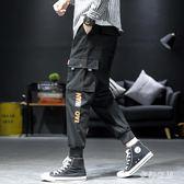 2019新款韓版男士潮流束腳夏季薄款寬鬆休閒九分工裝褲 QW7892『夢幻家居』