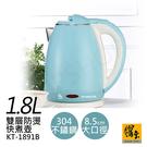 【鍋寶】1.8L雙層防燙不鏽鋼快煮壺 KT-1891B(藍)-超下殺