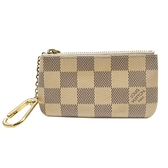 路易威登 LOUIS VUITTON LV 白色棋盤格零錢鑰匙包 Pochette Cles N62659【BRAND OFF】