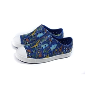 native JEFFERSON PRINT 懶人鞋 洞洞鞋 藍色 恐龍印花 中童 童鞋 12100101-8947 no047