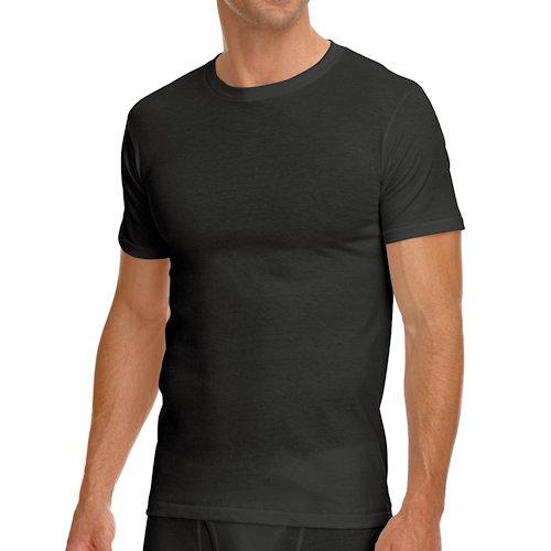 Jockey 創新3件裝黑色圓領T恤衫內著