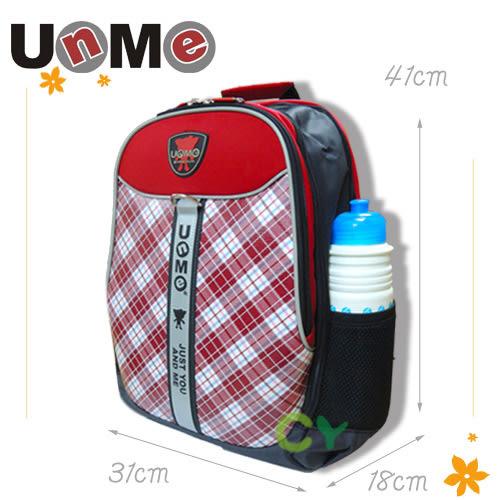 【UnMe】蘇格紋小筆電後背包 紅色 3247-R (OS小舖)