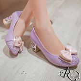韓系時尚亮粉蝴蝶結造型高跟包鞋/4色/35-39碼 (RX0011-C18) iRurus 路絲時尚