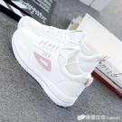 小白鞋女新款百搭韓版學生秋季平底運動板鞋網紅鞋子厚底白鞋