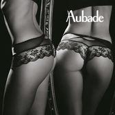 Aubade傾慕S-XL蕾絲平口褲(黑)DA