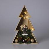 聖誕木製LED聖誕樹28cm