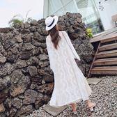 (批發價不退換)1077夏新款超火的蕾絲防曬衣服女中長款超薄寬松時尚開衫外套G-529 日韓屋