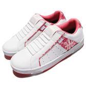 Royal Elastics 休閒鞋 Icon 白 粉紅 皮革 花卉圖騰 無鞋帶設計 運動鞋 女鞋 【PUMP306】 92074014