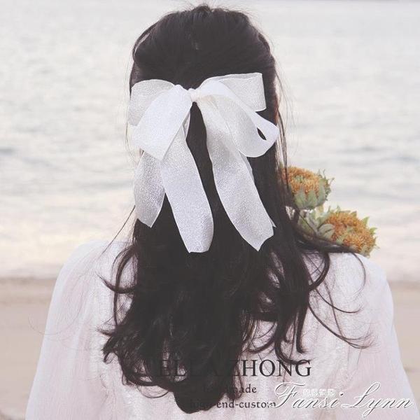 超大蝴蝶結頂夾~飄帶氣質甜美法式韓國髮飾頭飾復古清新髮夾超仙 范思蓮恩