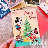 正版 迪士尼 DISNEY 米奇米妮 聖誕節卡片 耶誕卡片 大卡片 附信封 G款 COCOS XX001