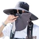 遮陽帽男夏季草帽戶外防曬帽子夏天防紫外線漁夫帽登山釣魚太陽帽 傑森型男館