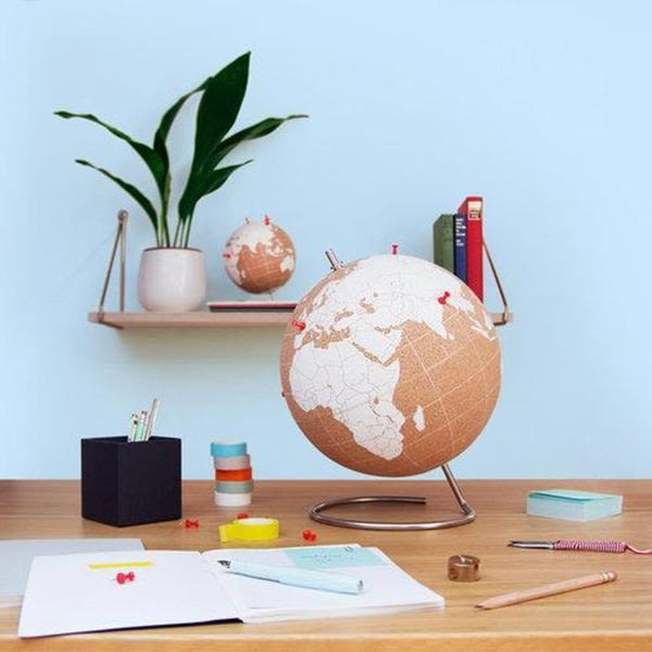 SUCK UK 環遊世界軟木地球儀