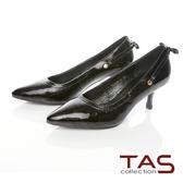 TAS時尚3WAY漆皮高跟鞋-高貴黑