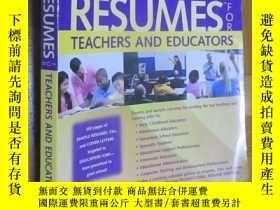 二手書博民逛書店Expert罕見Resumes for Teachers and Educators(3rd Edition) 大