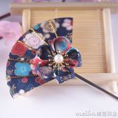 日本頭飾和風頭飾櫻花漢服髮夾和服髮飾古風髮簪日式簪子 美芭