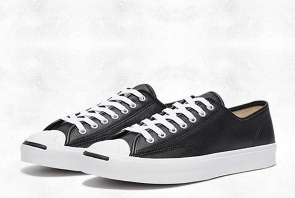 CONVERSE-Jack Purcell 男女款黑色帆布鞋-NO.164224C