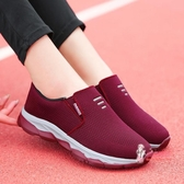 健步鞋 老北京布鞋女秋透氣防滑軟底媽媽網鞋中老年一腳蹬休閒健步運動鞋 3色