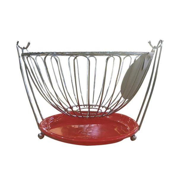 水果搖籃 水果籃鐵藝創意果籃瀝水籃搖擺不銹鋼水果收納籃糖果盤子簡約 歐來爾藝術館