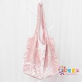 環保袋 超市購物袋帆布手提袋女摺疊無紡布袋便攜環保袋單肩大容量 3色