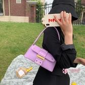 腋下包 包包女包2020新款潮韓版百搭鱷魚紋單肩腋下包網紅時尚質感法棍包