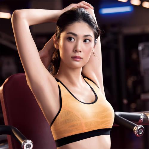 華歌爾-TRAINING-系列五星有氧A-B罩杯運動胸罩(能量橘)NBB137-W2