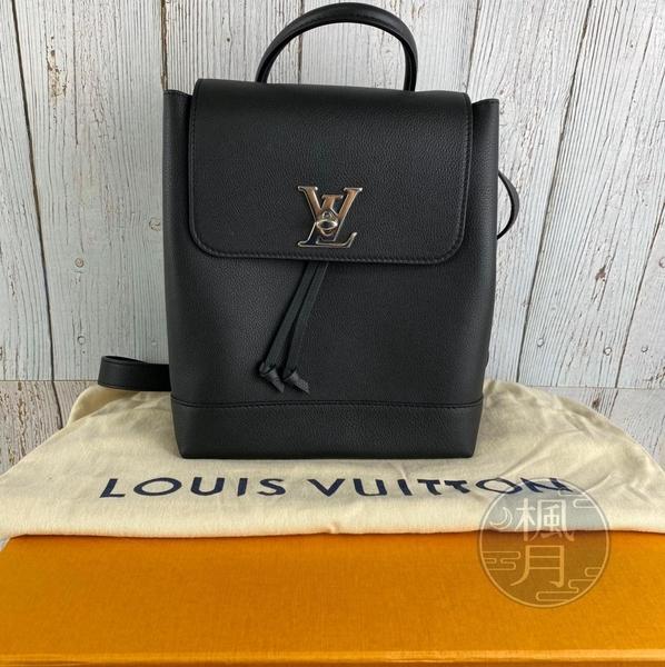 BRAND楓月 LOUIS VUITTON LV M54573 黑色 小牛皮 LOCKME 後背包