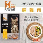 【毛麻吉寵物舖】HyperrRAW超躍 小豹牙五色生鮮餐 鮮雞肉口味 200克