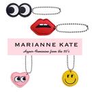 韓國Marianne Kate ~童趣鑰匙圈扣 大眼睛 紅唇 愛心 微笑 【花想容】