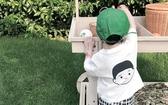 男童夏裝短袖t恤2019新款兒童白色中小童圓領人頭韓版潮衣