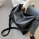 手提包側背包 大包包女新款2020大容量純色簡約休閑百搭單肩斜挎托特包【快速出貨八折下殺】