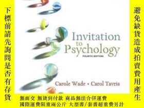 二手書博民逛書店Invitation罕見To PsychologyY364682 Carole Wade Prentice H