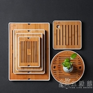 親韻功夫茶具簡約茶盤家用儲水日式圓形竹制托盤特價小茶臺干泡盤 WD小時光生活館