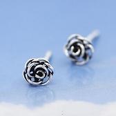 925純銀耳環(耳針式)-生日情人節禮物時尚玫瑰花女飾品73ag70[巴黎精品]