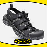 【KEEN 美國 男 護趾涼鞋《黑》】1020285/耐水洗/水陸兩用/運動涼鞋/多功能鞋/低筒鞋