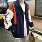 飛行外套休閒外套男正韓潮流百搭秋季衣服棒球外套夾克男士迷你新品男裝拼接