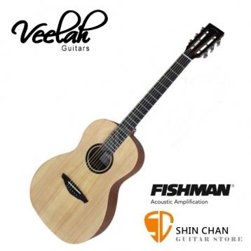 Veelah木吉他 V1-PE 電民謠木吉他-古典琴頭/面單板/Fishman拾音器-贈原廠袋/V1專用(全配件)