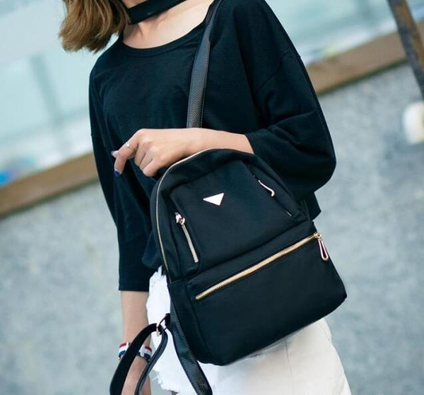 後背包女士牛津布黑色包包雙肩包尼龍2020新款潮韓版百搭時尚休閒 向日葵
