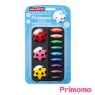 【Primomo】普麗貓趣味蠟筆(花瓣型)12色-附橡皮擦