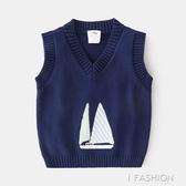 寶寶帆船馬甲 2019秋冬新款兒童童裝男童針織馬甲上衣tx-a521-ifashion