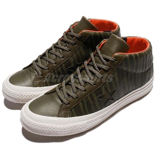 【五折特賣】Converse 滑板鞋 One Star Mid Counter Climate 綠 白 皮革鞋面 男鞋 運動鞋【PUMP306】 158836C