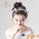 兒童頭花飾品女童花環頭飾花朵公主花童發飾演出【淘嘟嘟】