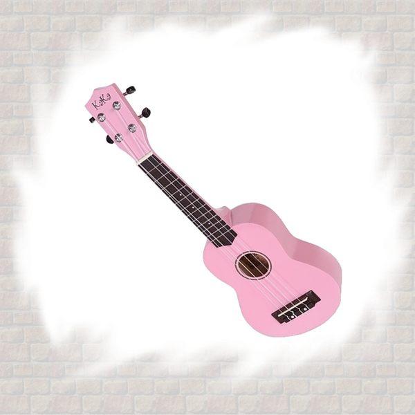 【非凡樂器】Kaka  KUS-101繽紛亮面彩色烏克麗麗 粉紅 / 加贈Pick/指法表/琴袋/吊帶