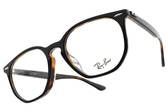 RayBan光學眼鏡 RB7151F 5909 (黑-琥珀棕) 復古六邊型膠框款 # 金橘眼鏡