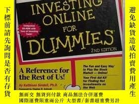 二手書博民逛書店英文原版罕見Investing Online for Dummi