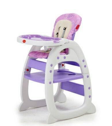 [家事達] Mother''s love-多功能二合一 兒童餐椅(餐椅+課桌椅)-紫色 特價 二用書桌餐椅