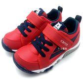 《7+1童鞋》中童 MOONSTAR CARROT 日本月星 熊熊休閒款 機能鞋 運動鞋 C440 紅色