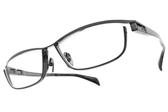 JAPONISM光學眼鏡 JP033 C05 (槍黑) 紳士流線設計款 平光鏡框 # 金橘眼鏡