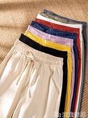 棉麻褲 棉麻褲子女夏季春休閒哈倫寬鬆九分薄款小腳蘿卜亞麻直筒工裝長褲 新品 嬡孕哺 免運