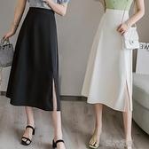 長裙適合胯大腿粗裙子女春高腰顯瘦a字半身長裙中長款大擺裙