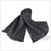 LV M78526 Monogram花紋Classic羊毛圍巾(煤炭灰)